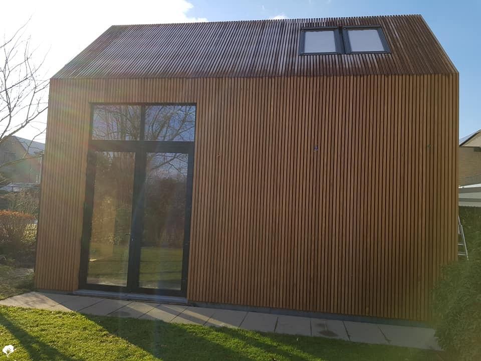 Afrormosia moderne bouw peer be paulussen houthandel for Moderne bouw