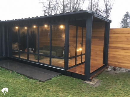 Containerwoning Ravels (BE) van Iroko